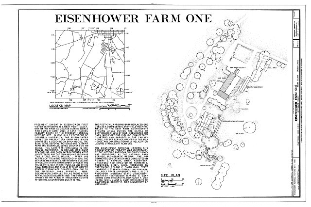 HABS PA,1-GET.V,12- (sheet 1 of 1) - Eisenhower Farm One, Emmitsburg Road (U.S. 15), Eisenhower National Historic Site, Gettysburg, Adams County, PA
