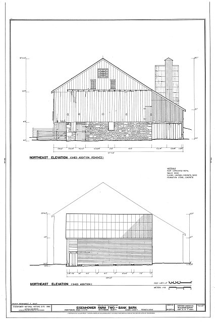 HABS PA,1-GET.V,13-A- (sheet 5 of 7) - Eisenhower Farm Two, Bank Barn, Emmitsburg Road (U.S. 15), Gettysburg, Adams County, PA