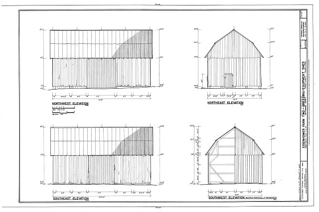 HABS PA,1-GET.V,13B- (sheet 2 of 2) - Eisenhower Farm Two, Breeding & Equipment Shed, Emmitsburg Road (U.S. 15), Gettysburg, Adams County, PA