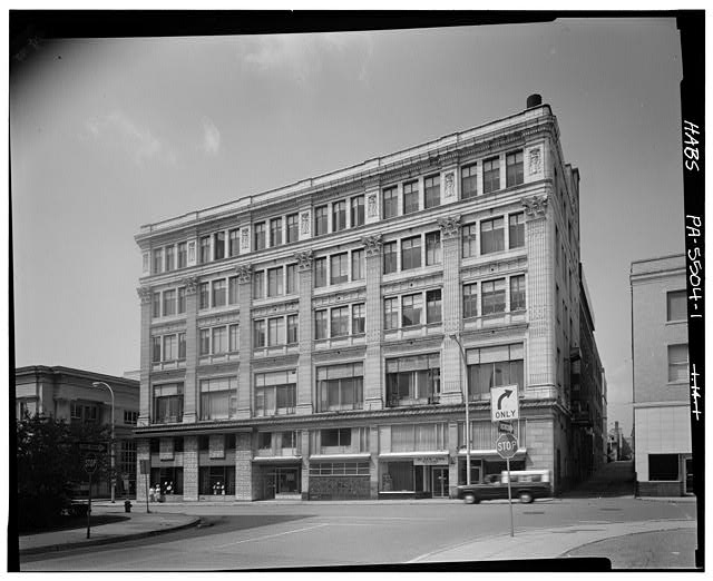 1.  PERSPECTIVE OF SOUTHWEST FRONT LOOKING NORTHEAST - Silverman Building, 1200-1204 Eleventh Avenue, Altoona, Blair County, PA