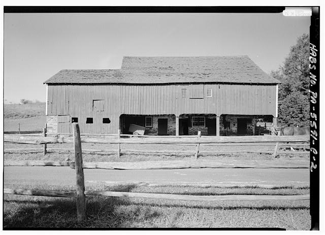 2.  SOUTHEAST (FRONT) ELEVATION - High Farm, Barn, Creek Road, 1 mile East of Easton Road, Pipersville, Bucks County, PA