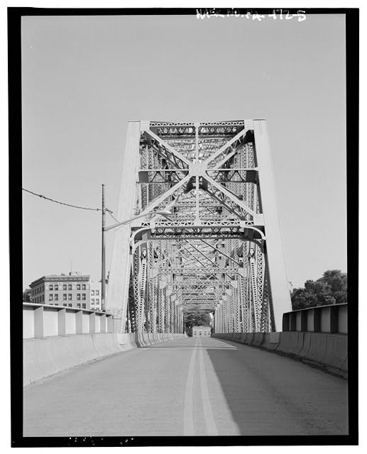 BARREL VIEW FROM NORTHWEST. - Old Brownsville Bridge, Spanning Monongahela River & Water Street at State Route 2067, Brownsville, Fayette County, PA