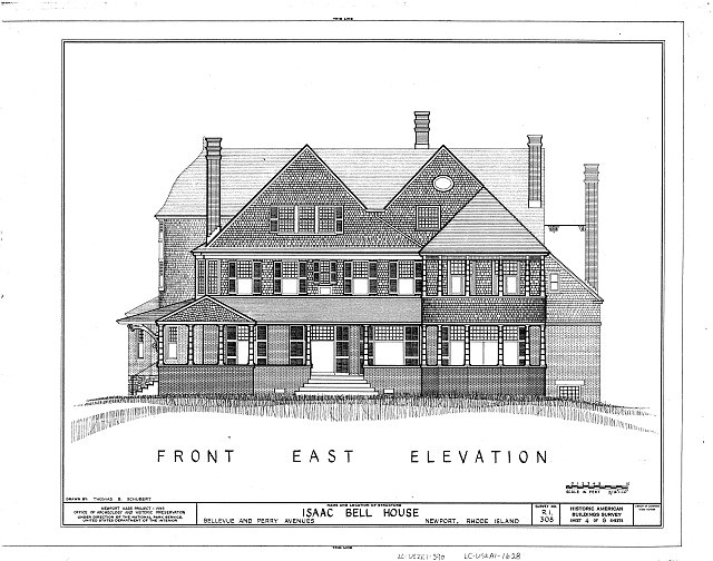 HABS RI,3-NEWP,44- (sheet 4 of 8) - Isaac Bell House, 70 Perry Street, Newport, Newport County, RI