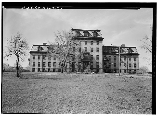 1.  Historic American Buildings Survey, Laurence E. Tilley, Photographer April, 1958 EXTERIOR ELEVATION. - Dexter Asylum, Hope Street & Lloyd Avenue, Providence, Providence County, RI