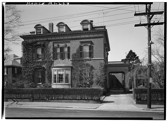 1.  Historic American Buildings Survey, Laurence E. Tilley, Photographer April, 1958 EAST (FRONT) ELEVATION. - James M. Kimball House, 108 Prospect Street, Providence, Providence County, RI