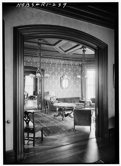 20.  Historic American Buildings Survey, Laurence E. Tilley, Photographer April, 1958 LIBRARY FROM SOUTHWEST PARLOR. - Governor Henry Lippitt House, 199 Hope Street, Providence, Providence County, RI