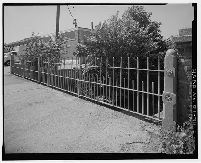 6.  VIEW LOOKING NORTHEAST SHOWING BRIDGE SIDEWALK RAILING ON EAST SIDE OF BRIDGE - Charles Street Bridge, Spanning West River on Charles Street, Providence, Providence County, RI