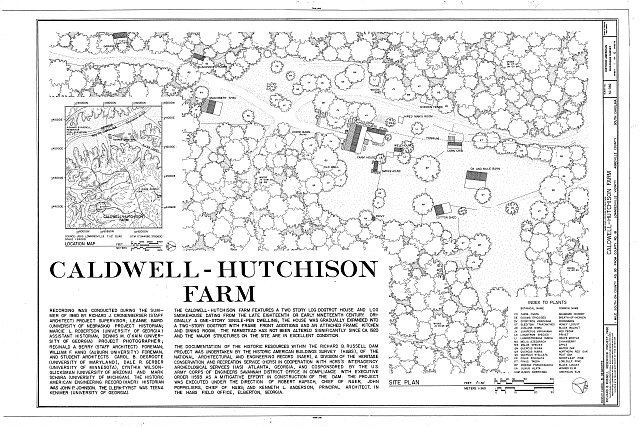 HABS SC,1-LOWN.V,4- (sheet 1 of 6) - Caldwell-Hutchison Farm, County Road 93, Lowndesville, Abbeville County, SC