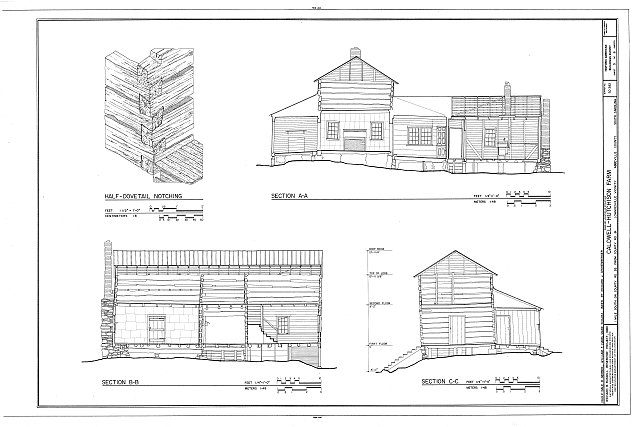 HABS SC,1-LOWN.V,4- (sheet 5 of 6) - Caldwell-Hutchison Farm, County Road 93, Lowndesville, Abbeville County, SC