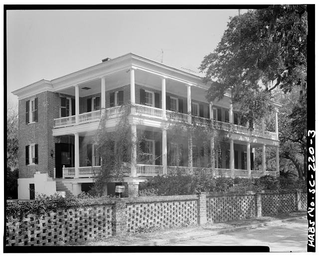 3.  SOUTH (FRONT) ELEVATION, FROM SOUTHWEST - Colonel Edward Means House, 604 Pinckney Street, Beaufort, Beaufort County, SC