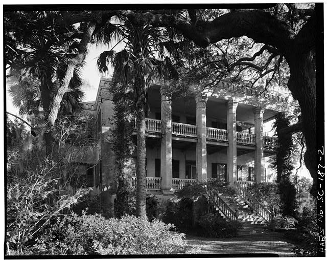 2.  GENERAL VIEW, SOUTH FRONT - Dr. Joseph Johnson House, 411 Craven Street, Beaufort, Beaufort County, SC