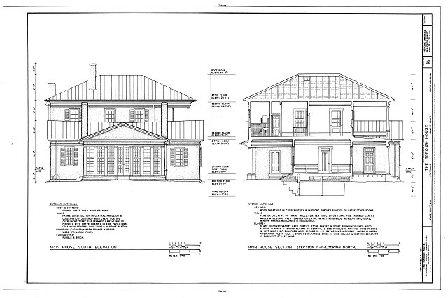 HABS SC,43-STATBU,1- (sheet 25 of 30) - Borough House, West Side State Route 261, about .1 mile south side of junction with old Garners Ferry Road, Stateburg, Sumter County, SC