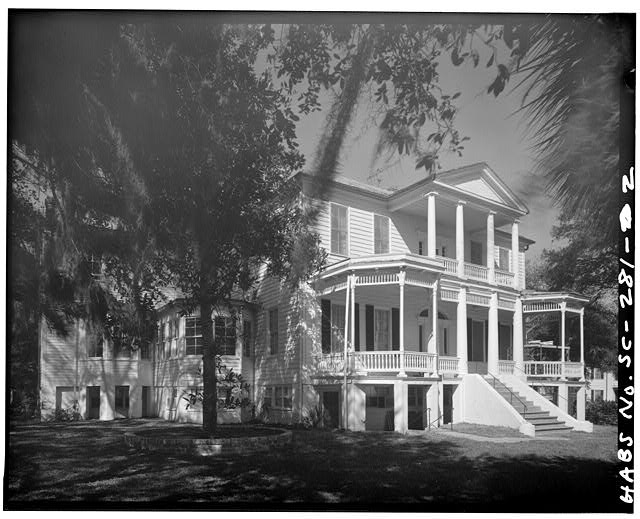 2.  GENERAL VIEW, FROM SOUTHWEST - John Cuthbert House, 1203 Bay Street, Beaufort, Beaufort County, SC