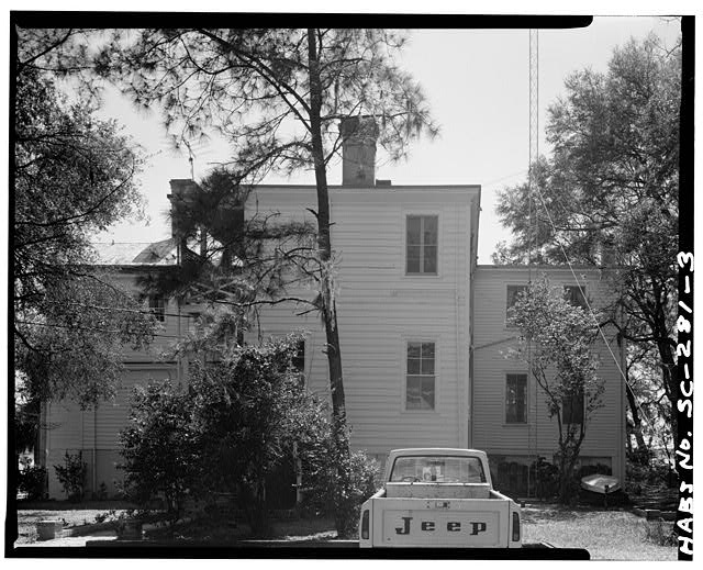 3.  NORTH (REAR) ELEVATION - John Cuthbert House, 1203 Bay Street, Beaufort, Beaufort County, SC