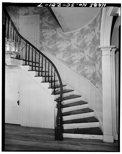 7.  STAIR, HALL, FIRST FLOOR - John Cuthbert House, 1203 Bay Street, Beaufort, Beaufort County, SC