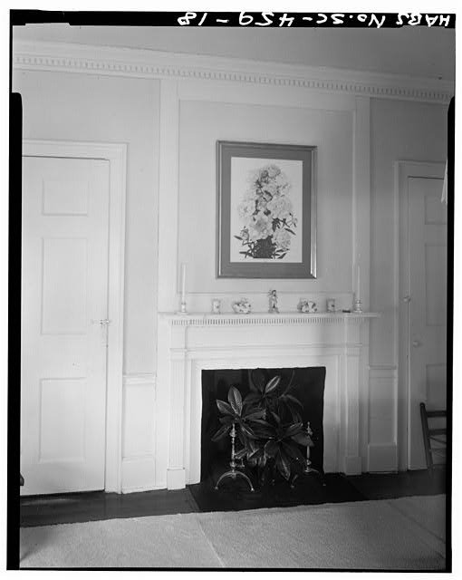 18.  BEDROOM B WITH MANTEL AND OVERMANTEL, SECOND FLOOR - Robert Means House, 1207 Bay Street, Beaufort, Beaufort County, SC