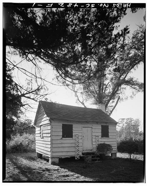 1.  CABIN Possibly slave cabin originally. - Chicora Wood Plantation, Cabin, County Road 52, Georgetown, Georgetown County, SC