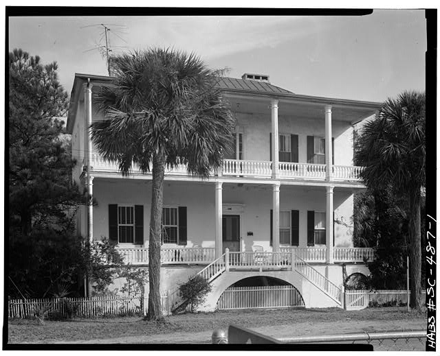 1.  SOUTH (FRONT) ELEVATION. Portico not original. - Frederick Fraser House, 901 Prince Street, Beaufort, Beaufort County, SC