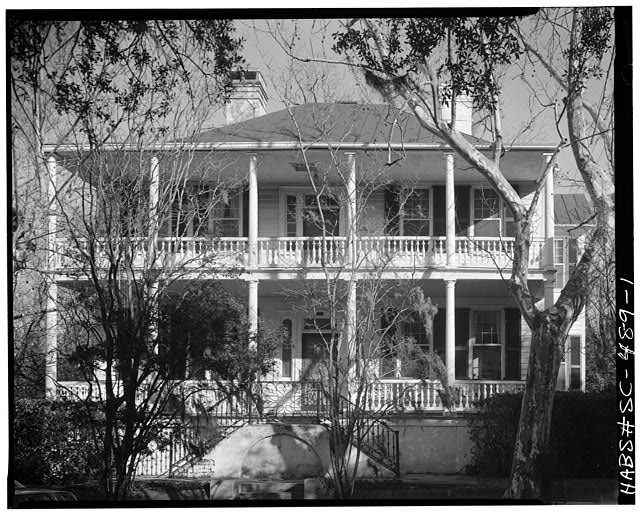 1.  SOUTH (FRONT) ELEVATION. Portico not original. - W. J. Jenkins House, 901 Craven Street, Beaufort, Beaufort County, SC