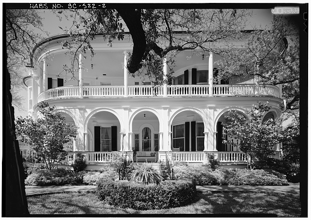 2.  SOUTH FRONT ELEVATION WITH SCALE - Carrington-Carr House, 2 Meeting Street, Charleston, Charleston County, SC