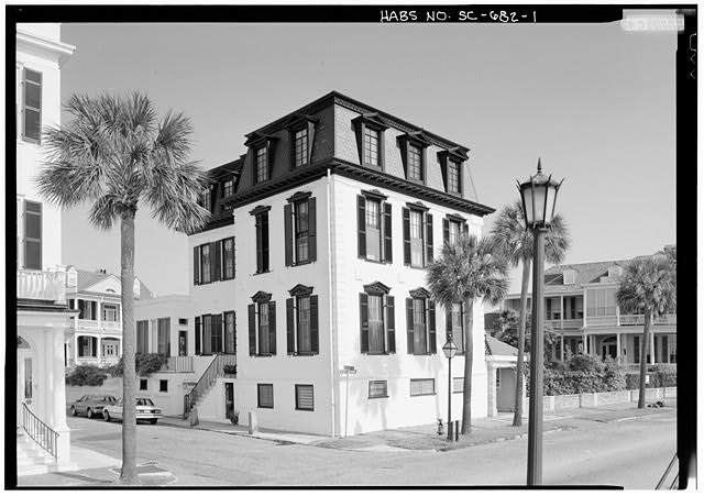 1.  GENERAL VIEW FROM SOUTHEAST - Nathaniel Ingrahm House, 2 Water Street, Charleston, Charleston County, SC