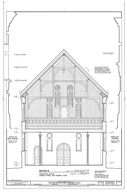 HABS SC,10-CHAR,354C- (sheet 5 of 5) - William Enston Home, Memorial Hall, 900 King Street, Charleston, Charleston County, SC