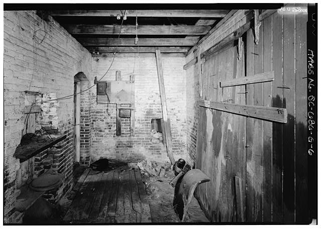 6.  VIEW OF NORTHEAST ROOM FROM SOUTHEAST - William Enston Home, Engine House, 900 King Street, Charleston, Charleston County, SC