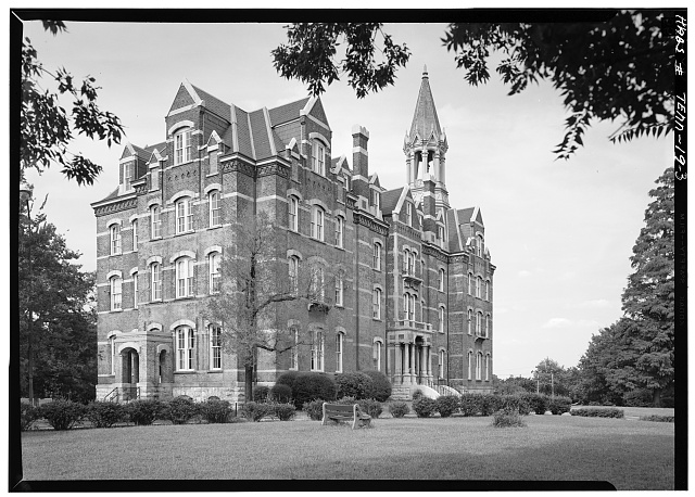 3.  West side and south front - Fisk University, Jubilee Hall, Seventeenth Avenue, North, Nashville, Davidson County, TN