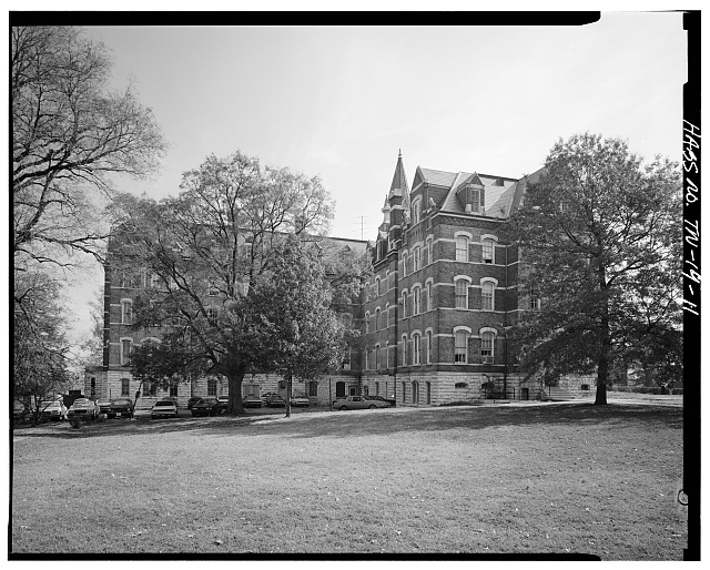 11.  WEST SIDE ELEVATION - Fisk University, Jubilee Hall, Seventeenth Avenue, North, Nashville, Davidson County, TN