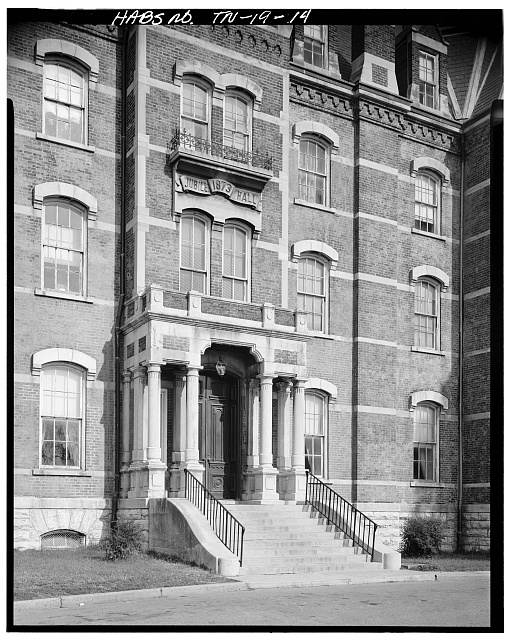 14.  SOUTH (FRONT) ENTRANCE - Fisk University, Jubilee Hall, Seventeenth Avenue, North, Nashville, Davidson County, TN