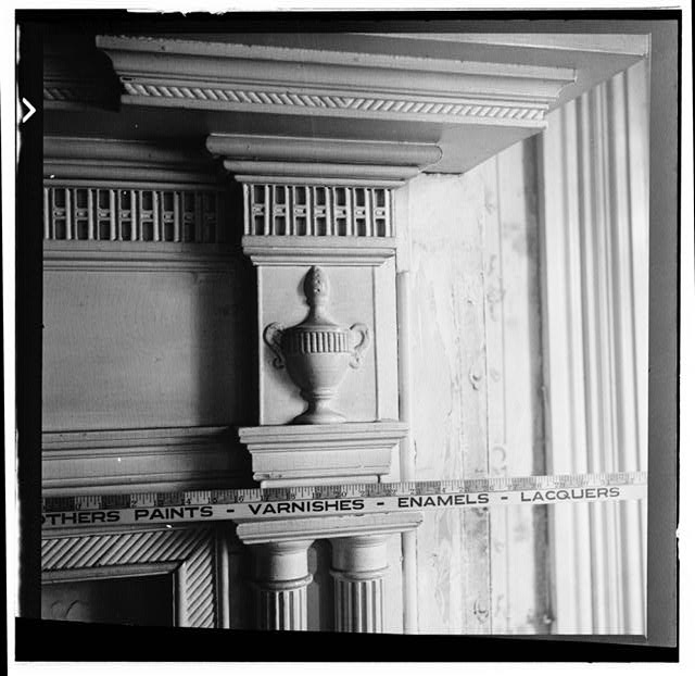 29.  Historic American Buildings Survey, W. Jeter Eason- Deputy District Officer, Photographer November 21, 1936 MANTLE IN GENERAL JACKSON'S ROOM. - The Hermitage, U.S. Highway 70 North (4580 Rachel's Lane), Nashville, Davidson County, TN