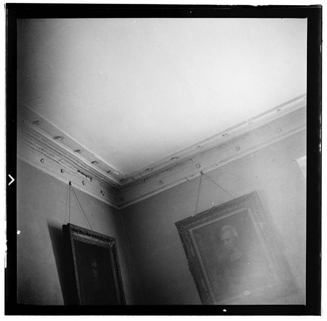 34.  Historic American Buildings Survey, W. Jeter Eason- Deputy District Officer, Photographer November 21, 1936 PLASTER CORNICE DINING ROOM. - The Hermitage, U.S. Highway 70 North (4580 Rachel's Lane), Nashville, Davidson County, TN