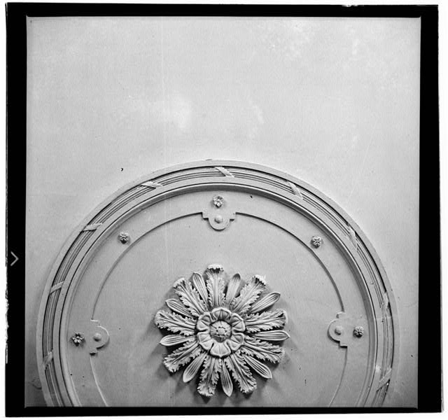 36.  Historic American Buildings Survey, W. Jeter Eason- Deputy District Officer, Photographer November 21, 1936 PLASTER ORNAMENT- DINING ROOM. - The Hermitage, U.S. Highway 70 North (4580 Rachel's Lane), Nashville, Davidson County, TN