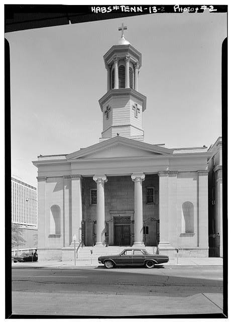 2.  West front - St. Mary's Cathedral, 328 Fifth Avenue, North, Nashville, Davidson County, TN