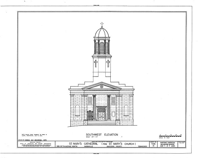 HABS TENN,19-NASH,8- (sheet 5 of 6) - St. Mary's Cathedral, 328 Fifth Avenue, North, Nashville, Davidson County, TN