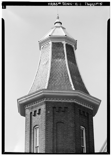 4.  Detail, east tower roof - Vanderbilt University, Gymnasium, Twenty-third Avenue, South & West End Boulevard, Nashville, Davidson County, TN