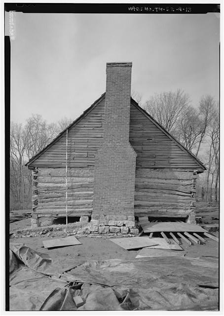 13.  South elevation, with scale - The Hermitage, West Cabin, 4580 Rachel&#39;s Lane, Hermitage, Davidson County, TN
