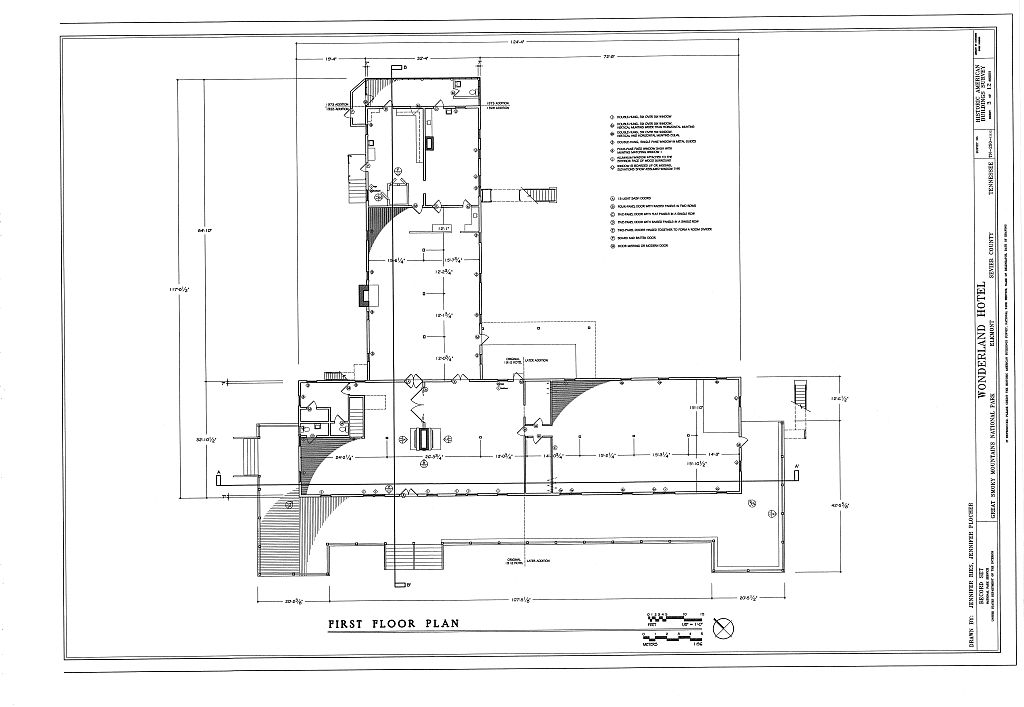 First floor plan elkmont historic district wonderland Servant quarters floor plans
