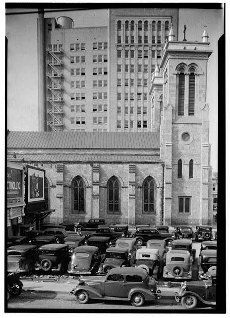 4.  Historic American Buildings Survey, Arthur W. Stewart, Photographer March 23, 1936 SOUTH ELEVATION, SOUTH SIDE. - San Fernando Cathedral, 115 Main Avenue, San Antonio, Bexar County, TX