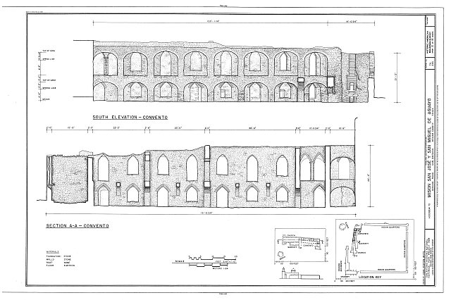HABS TEX,15-SANT.V,5- (sheet 10 of 18) - Mission San Jose y San Miguel de Aguayo, Mission Road, San Antonio, Bexar County, TX