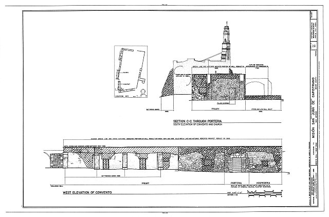 HABS TEX,15-SANT.V,3- (sheet 16 of 17) - Mission San Juan de Capistrano, Berg's Mill-Graf Road, San Antonio, Bexar County, TX