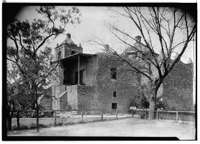 4.  Historic American Buildings Survey, Arthur W. Stewart, Photographer, April 10, 1936 DETAIL OF SOUTHEAST ELEVATION (REAR). - Mission Nuestra Senora de La Purisima Concepcion, 807 Mission Road, San Antonio, Bexar County, TX