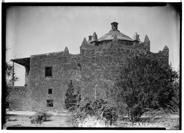 6.  Historic American Buildings Survey, Arthur W. Stewart, Photographer, April 10, 1936 EAST ELEVATION (REAR). - Mission Nuestra Senora de La Purisima Concepcion, 807 Mission Road, San Antonio, Bexar County, TX