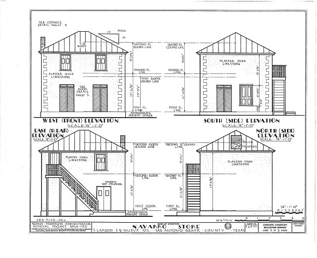 HABS TEX,15-SANT,14- (sheet 2 of 3) - Jose Antonio Navarro Store, 232 South Laredo Street, San Antonio, Bexar County, TX