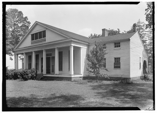 2.  Historic American Buildings Survey, Harry L. Starnes, Photographer June 2, 1936 REAR ELEVATION. - Park Hill, Between Farm Roads 229 & 2076, Crockett, Houston County, TX