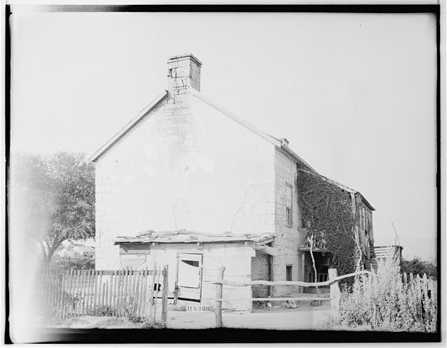 4.  Historic American Buildings Survey, Richard MacAllister, Photographer June 13, 1936 SOUTHWEST ELEVATION (SIDE). - Whetstone Ranch House, Farm Road 81 Vicinity, Panna Maria, Karnes County, TX