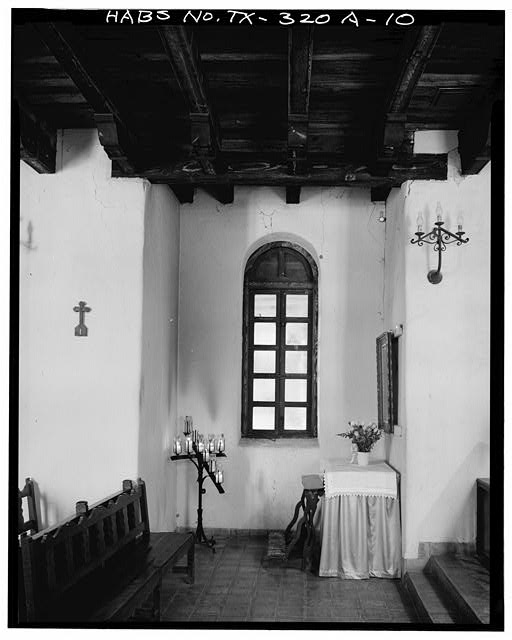 10.  ALCOVE IN SOUTH WALL OF CHURCH, NEAR ALTAR - Mission San Francisco de la Espada, Church, Berg's Mill Community, San Antonio, Bexar County, TX