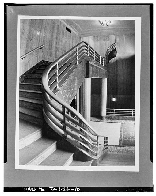 10.  Interior,main staircase - Houston City Hall, 901 Bagby Street, Houston, Harris County, TX