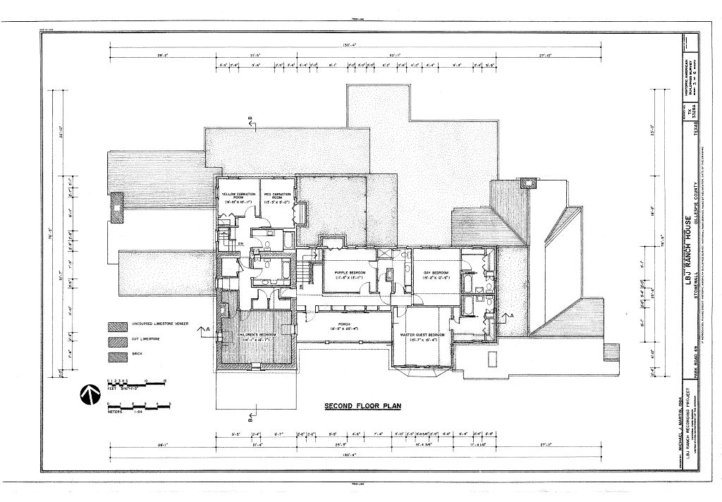 Second floor plan lyndon b johnson ranch house park for Texas ranch house floor plans