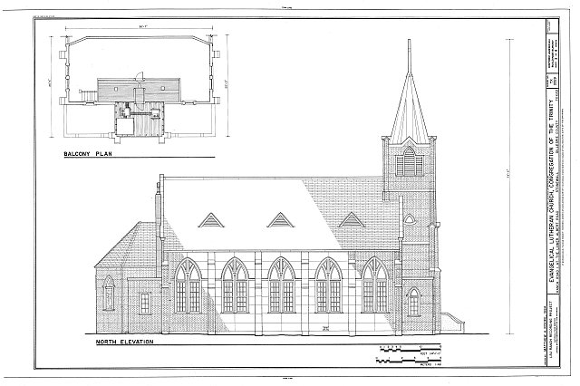 HABS TEX,86-STONE,2- (sheet 3 of 4) - Evangelical Lutheran Church, Congregation of the Trinity, Ranch Road 1 at Lower Albert Road, Stonewall, Gillespie County, TX